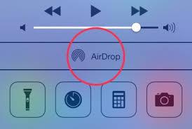 как передавать фото через airdrop