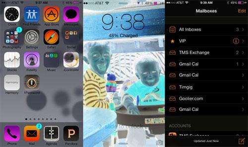 Инверсия цвета в айфоне зачем